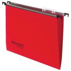 Подвесные папки А4 350х245 мм, до 80 листов, КОМПЛЕКТ 5 шт., пластик, красные, BRAUBERG , 231800