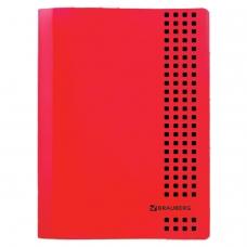 Тетрадь А4, 40 листов, BRAUBERG 'Metropolis', скоба, клетка, обложка пластик, КРАСНЫЙ, 403401