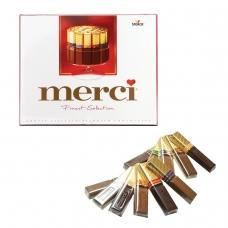 Конфеты шоколадные MERCI, ассорти, 250 г, картонная коробка, 015409-35