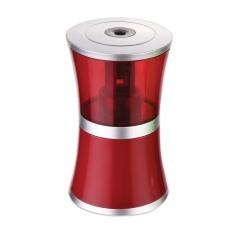 Точилка электрическая BRAUBERG 'Office style', питание от USB/4 батареек АА, красная, 223568
