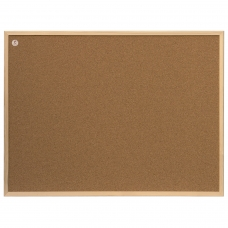 Доска пробковая для объявлений 80x60 см, ECO, деревянная рамка, '2х3' Польша, TC86/C