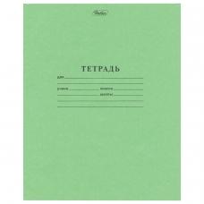 Тетрадь Зелёная обложка 12 л. HATBER, офсет, крупная клетка с полями, 12Т5B8 05112, T058091