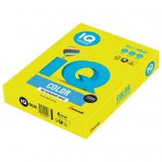 Бумага IQ color, А4, 80 г/м2, 500 л., неон, желтая, NEOGB