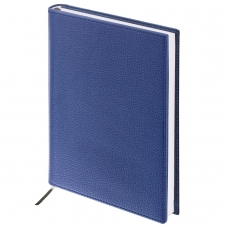 Ежедневник BRAUBERG недатированный, А5, 138х213 мм, Favorite, под классическую кожу, 160 л., темно-синий, 123396