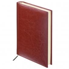 Ежедневник BRAUBERG недатированный, А6, 100х150 мм, 'Imperial', под гладкую кожу, 160 л., коричневый, кремовый блок, 123465