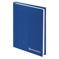 Ежедневник датированный на 4 года, BRAUBERG, А5, 145х215 мм, 192 л., обложка бумвинил, синий, тиснение, 123521