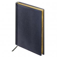 Ежедневник BRAUBERG недатированный, А6, 100х150 мм, 'Iguana', под зернистую кожу, 160 л., черный, крем. блок, зол. срез, 125104
