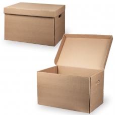 Короб архивный 'Делопроизводство', 29,5х48х32,5 см, откидная крышка, картон, бурый