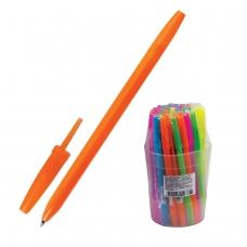 Ручка шариковая СТАММ 'Оптима', СИНЯЯ, корпус неоновый ассорти, узел 1,2 мм, линия письма 0,7 мм, РО10