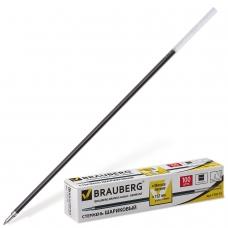 Стержень шариковый BRAUBERG 152 мм, ЧЕРНЫЙ, узел 1 мм, линия письма 0,5 мм, BP103R
