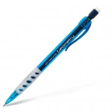 Карандаш механический KOH-I-NOOR 'Geometry', корпус тонированный голубой, грип, ластик, 0,5 мм, 5780008001KS