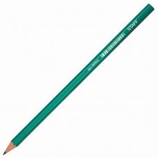Карандаш чернографитный STAFF, 1 шт., НВ, пластиковый, зеленый корпус, без резинки, заточенный, 180962