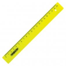 Линейка пластиковая 20 см, ПИФАГОР, непрозрачная, неоновая, ассорти, 210604