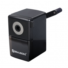 Точилка механическая BRAUBERG 'Black Jack', металлический механизм, цвет чёрный, 222516