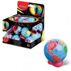 Точилка MAPED Франция 'Globe', металлический контейнер, в форме глобуса, 051111