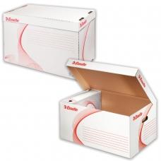 Короб архивный ESSELTE 'Standard' для регистраторов/накопителей 56х26,5х38 см, откидная крышка, белый, 128900