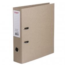 Папка-регистратор STAFF, картонная, без покрытия и уголка, 75 мм, 225943