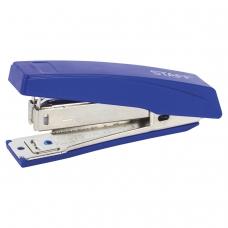 Степлер №10 STAFF, до 10 листов, с антистеплером, синий, 227405