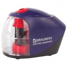 Точилка электрическая BRAUBERG 'Delta', питание от 4 батареек АА, спиралевидное лезвие, 228421