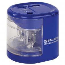 Точилка электрическая BRAUBERG 'Extra', два отверстия 6-8/9-12 мм, питание от 4 батареек АА, 228423
