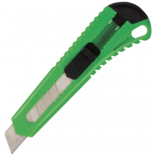Нож универсальный 18 мм BRAUBERG, фиксатор, корпус ассорти, упаковка с европодвесом, 230917