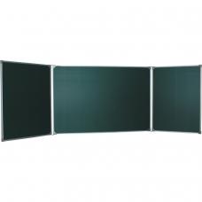 Доска для мела магнитная BOARDSYS, 100х150/300 см, 3-элементная, 5 рабочих поверхностей, зеленая, ТЭ-300М