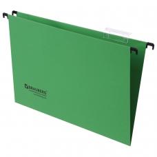 Подвесные папки картонные BRAUBERG, комплект 10 шт., 370х245 мм, 80 л., Foolscap, зеленые, 230 г/м2, табуляторы, 231795