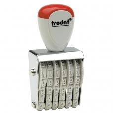 Нумератор ручной ленточный, 6 разрядов, оттиск 27х4 мм, TRODAT 1556, 54886