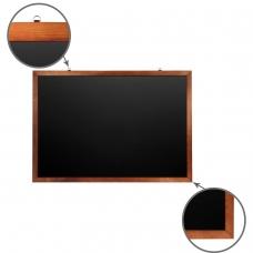 Доска для мела магнитная BRAUBERG, 100х150 см, черная, деревянная окрашенная рамка, 236895