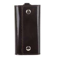 Футляр для ключей BEFLER Classic, натуральная кожа, две кнопки, 60x110х15 мм, коричневый, KL.3.-1