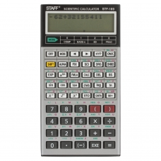 Калькулятор STAFF инженерный двухстрочный STF-169, 242 функции, 10+2 разряда, 143х78 мм, 250138