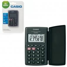 Калькулятор CASIO карманный HL-820LV-BK-S, 8 разрядов, питание от батарейки,104х63х7,4 мм, блистер, черный, HL-820LV-BK-S-G