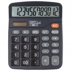 Калькулятор STAFF PLUS настольный DC-111, батарейка АА, 12 разрядов, двойное питание, 180x145 мм, 250427