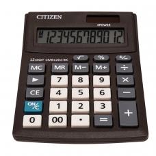 Калькулятор CITIZEN BUSINESS LINE CMB1201BK, настольный, 12 разрядов, двойное питание, 100x136 мм