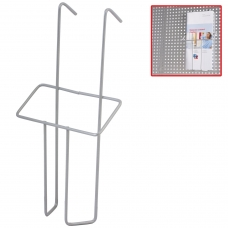 Лоток навесной для стоек ПАРУС, формат А6, 220х115х30 мм, проволочный, хром, 290443