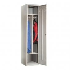 Шкаф металлический для одежды ПРАКТИК 'LS-11-40D', 2 отделения, 1830х418х500 мм, 24 кг, разборный
