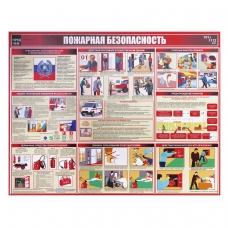 Доска-стенд информационная 'Пожарная безопасность', 910х700 мм, пластик