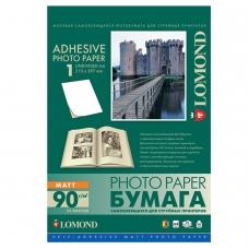 Фотобумага LOMOND для струйной печати, А4, 90 г/м2, 25 л., самоклеящаяся, матовая, 2210003
