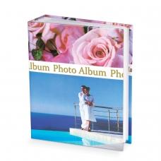 Фотоальбом BRAUBERG на 300+4 фотографии 10х15 см, твердая обложка, 'Романтика', голубой с розовым, 390675