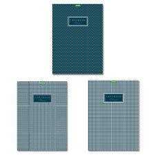 Тетрадь, А4, 80 л., HATBER 'ECO', скоба, клетка, обложка картон, 'Classic' 3 вида, 80Т4C3