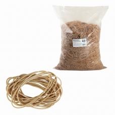 Резинки банковские универсальные, BRAUBERG 10 кг, диаметр 60 мм, натуральный цвет, натуральный каучук, 440100