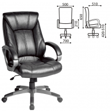 Кресло офисное BRABIX 'Maestro EX-506', экокожа, черное, 530877