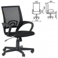 Кресло CH 696, с подлокотниками, черное, 7000799