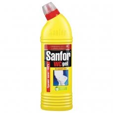 Средство для уборки туалета 750 г, SANFOR WC gel Санфор гель 'Лимонная свежесть', 1550
