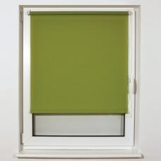 Штора рулонная светопроницаемая BRABIX 60х175 см, текстура 'Лён', зелёный, 605984