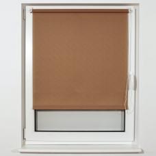 Штора рулонная светопроницаемая BRABIX 60х175 см, текстура 'Лён', темно-бежевый, 605986