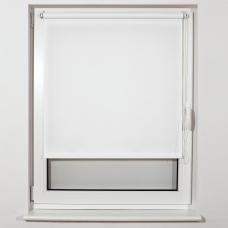 Штора рулонная светопроницаемая BRABIX 80х175 см, текстура 'Лён', белый, 605995