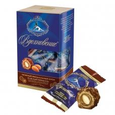 Конфеты шоколадные КРАСНЫЙ ОКТЯБРЬ 'Вдохновение', с цельным миндалем, 240 г, КО09762