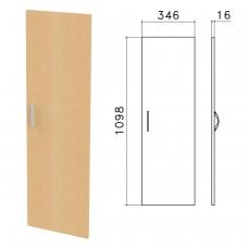 Дверь ЛДСП средняя 'Канц', 346х16х1098 мм, цвет бук невский, ДК36.10